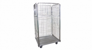 Galvanized Grid Roll Container RC1042